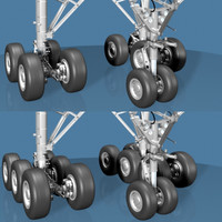 3ds max airline jet landing gear