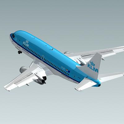 3d c4d 737-200 klm
