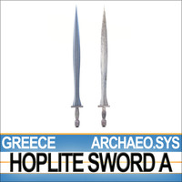 Greek Hoplite Sword Model A - ARCHAEO.SYS 3D