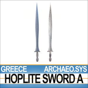 archaeo sys - greek hoplite 3d model