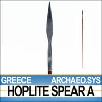 3d model archaeo sys greek hoplite
