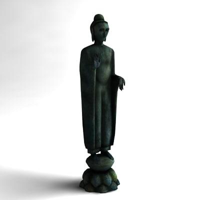 3d model buddha sculpture