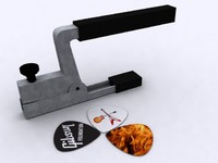 guitar capo plectrums 3d 3ds