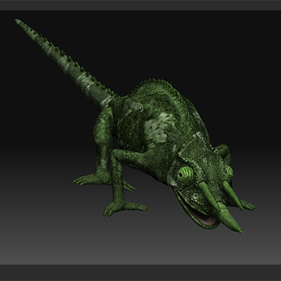 chameleon zbrush s 3d model