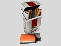 3d c4d pack cigarette