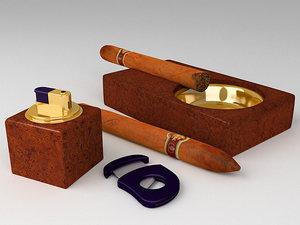 cigars lighter cutter 3d model