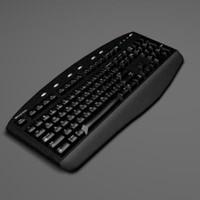keyboard computer 3d obj