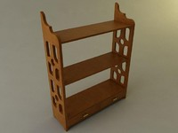 3d 3ds knick knack shelf