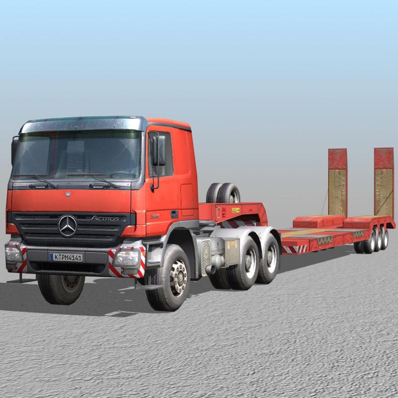 3d model truck 04 - loader