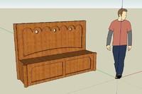 medieval bench 3d model
