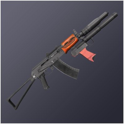 aks-74u assault rifle 3ds