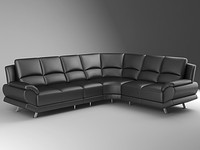 3ds max leather sectional sofa