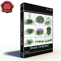 shrubs vol2 3d max