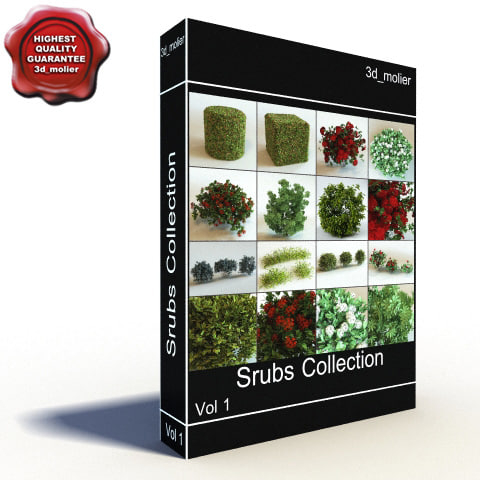 3d max shrubs vol1 bush