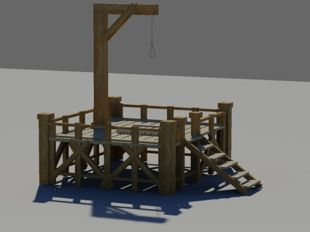 gallows 3d model