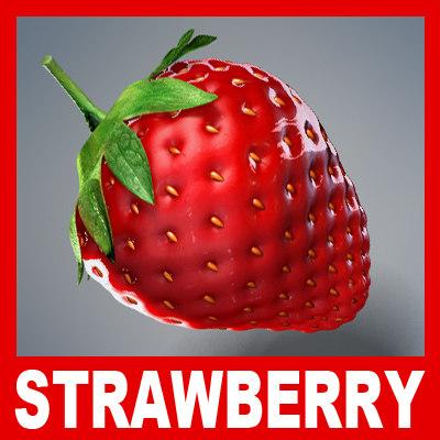 ripe strawberry 3d model