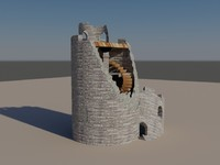 3ds max ruined tower