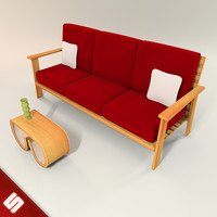 3ds wood pallet couch coffee table
