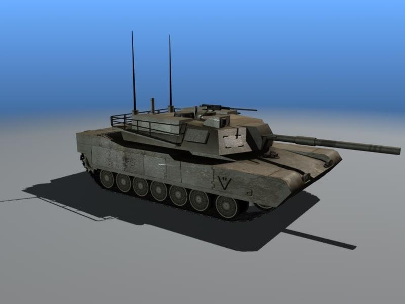 3ds max american m1 abrams tank