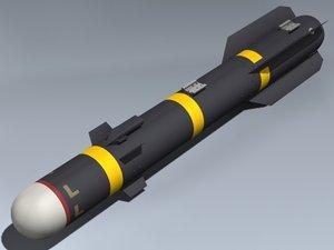 agm-114l hellfire missile 3d max
