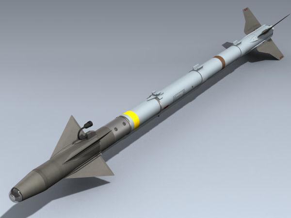 aim-9x sidewinder 3d model