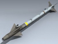 aim-9x sidewinder 3d model