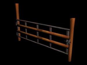 barrier 3d model