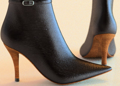 woman boot ankle strap obj