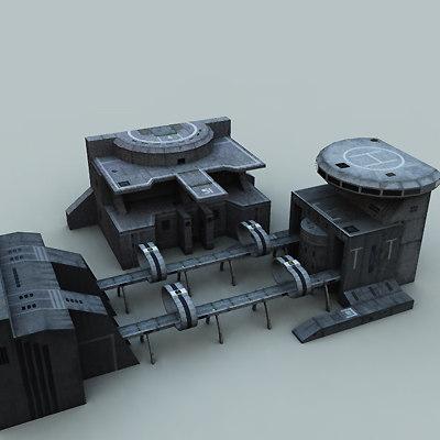 3d building science fiction