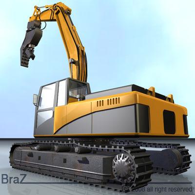 hydraulic excavators demolition bucket 3ds
