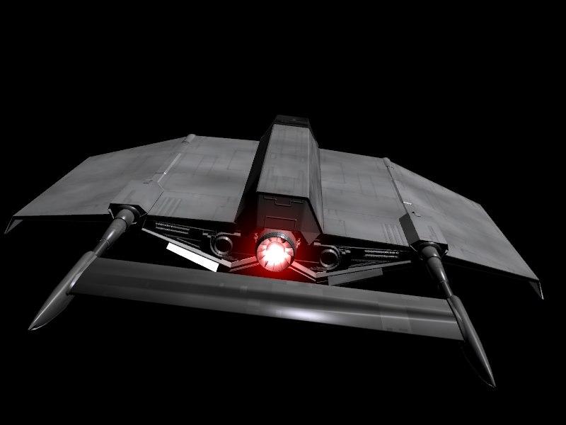 cloakshape space ship blend free