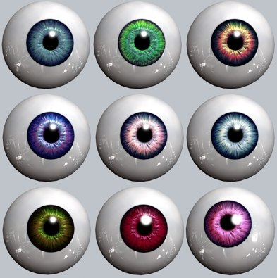 3d model eyeball pupil iris
