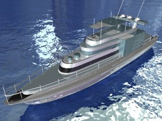 luxury yatch speedboat 3ds