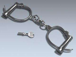 3d model darby handcuffs