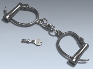 3d model darby handcuffs