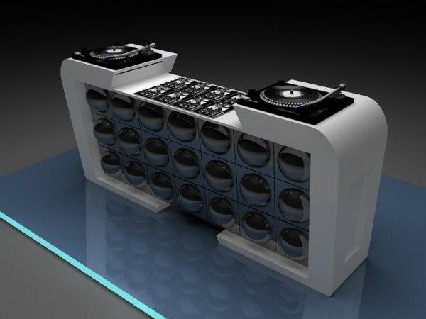 free dj table 3d model