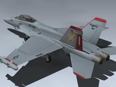 3d model ea-18g growler