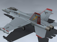 3d model ea-18g growler