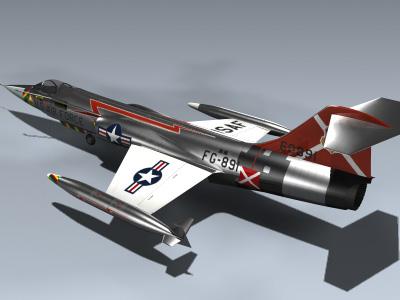 3d model f-104c starfighter fighter