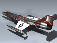 3d model f-104c starfighter fighter