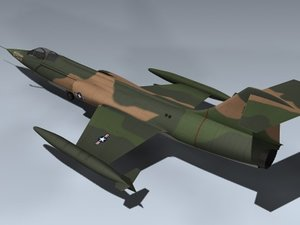 3ds f-104c starfighter sea