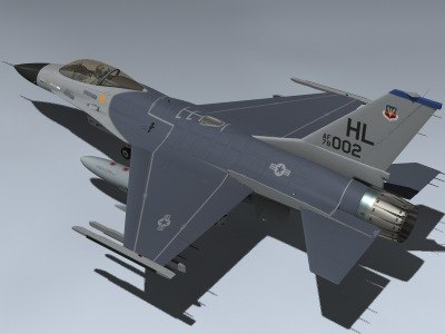 3ds f-16a falcon block 1
