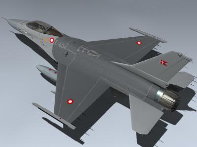f-16am mlu falcon denmark 3d model