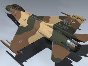 f-16c fulcrum red 21 3d 3ds