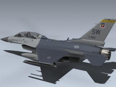 3d f-16d falcon model