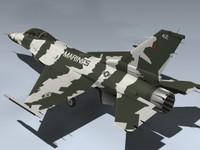 3ds max f-16n falcon usmc