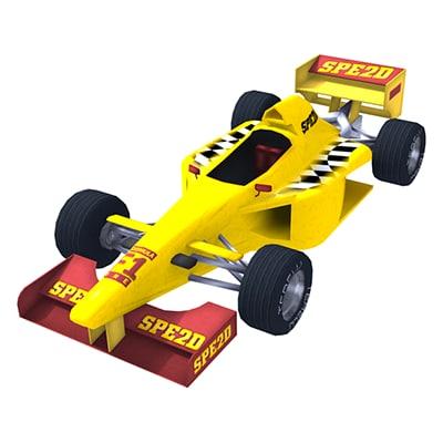 3ds max optimized f1 racing car