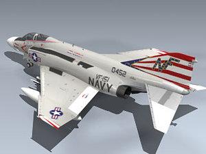 f-4n phantom ii vf-151 3d max