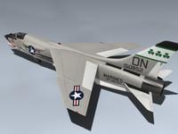 f-8e crusader 3d max