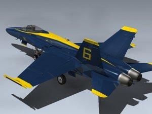 lwo f a-18a hornet blue angels